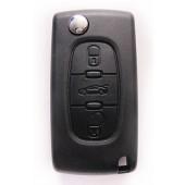 Peugeot klapsleutel 3-knops